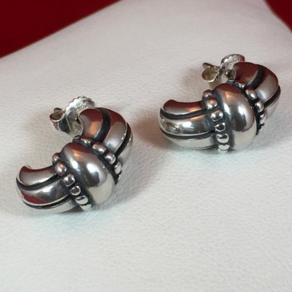 James Avery Jewelry Retired Sterling Thatch Hoop Earrings Poshmark